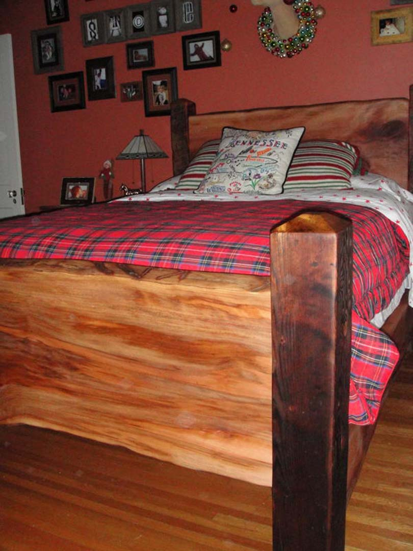Custom Heart Pine & Sycamore Bed