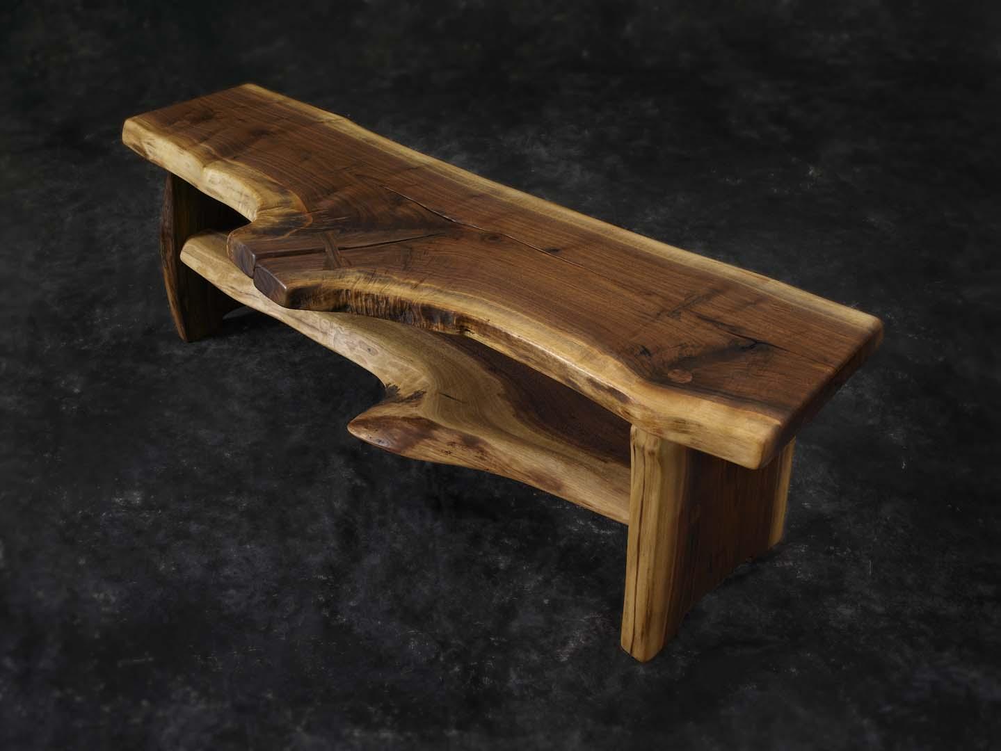 walnut-bench
