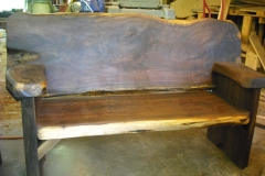 walnut-bench